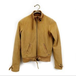 Tommy Hilfiger tommy jeans teddy tan bomber jacket